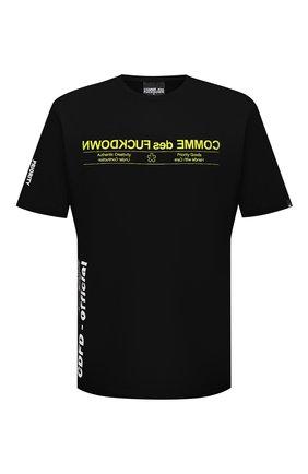 Мужская хлопковая футболка COMME DES FUCKDOWN черного цвета, арт. CDFU1166 | Фото 1