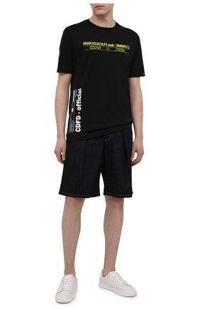 Мужская хлопковая футболка COMME DES FUCKDOWN черного цвета, арт. CDFU1166 | Фото 2