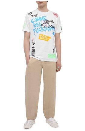 Мужская хлопковая футболка COMME DES FUCKDOWN белого цвета, арт. CDFU1179 | Фото 2