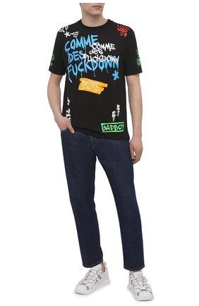 Мужская хлопковая футболка COMME DES FUCKDOWN черного цвета, арт. CDFU1179 | Фото 2