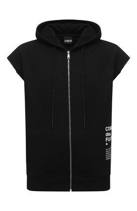 Мужской хлопковый жилет COMME DES FUCKDOWN черного цвета, арт. CDFU1202 | Фото 1