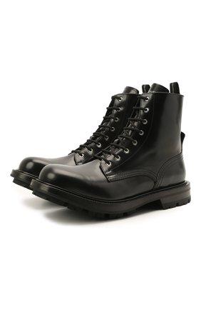 Мужские кожаные ботинки ALEXANDER MCQUEEN черного цвета, арт. 651621/WHZ80 | Фото 1