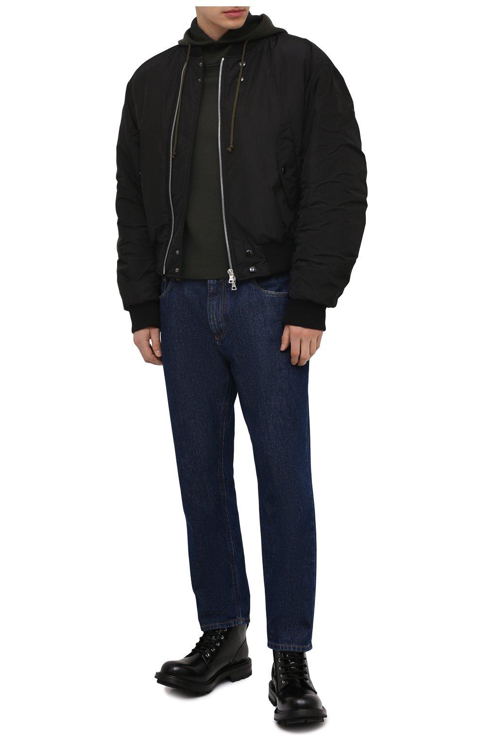 Мужские кожаные ботинки ALEXANDER MCQUEEN черного цвета, арт. 651621/WHZ80   Фото 2