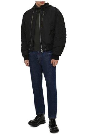 Мужские кожаные ботинки ALEXANDER MCQUEEN черного цвета, арт. 651621/WHZ80 | Фото 2