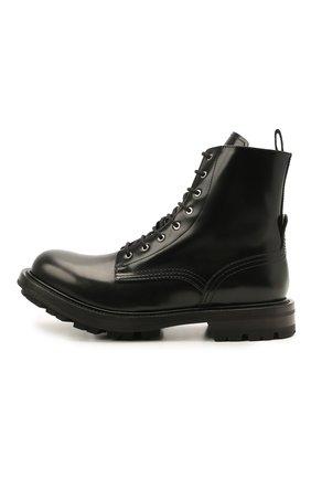 Мужские кожаные ботинки ALEXANDER MCQUEEN черного цвета, арт. 651621/WHZ80   Фото 3