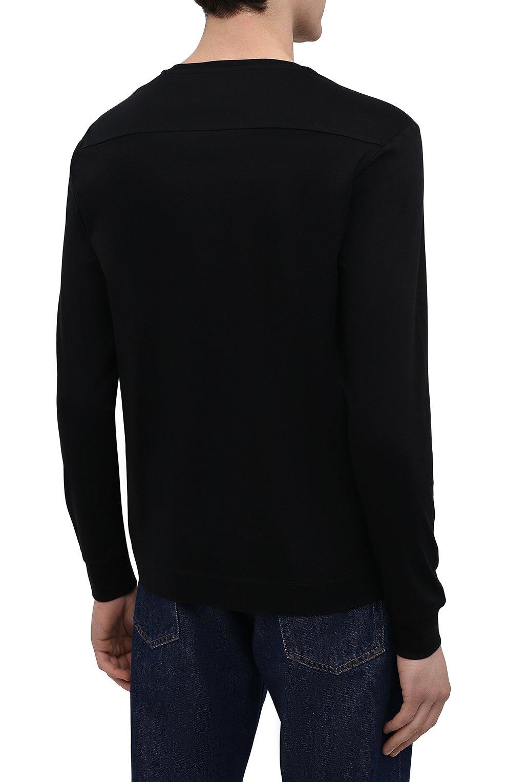 Мужская хлопковый лонгслив LIMITATO черного цвета, арт. T0AST/L0NG SLEEVE T-SHIRT | Фото 4 (Рукава: Длинные; Длина (для топов): Стандартные; Принт: С принтом; Материал внешний: Хлопок; Стили: Кэжуэл)