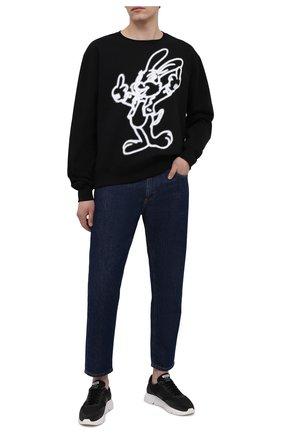 Мужской хлопковый свитшот DOMREBEL черного цвета, арт. GRANDE/SWEATSHIRT | Фото 2