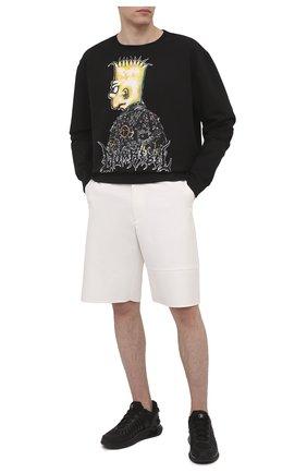 Мужской хлопковый свитшот DOMREBEL черного цвета, арт. DUDE/SWEATSHIRT | Фото 2