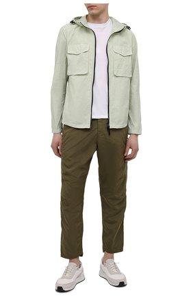 Мужские брюки STONE ISLAND SHADOW PROJECT хаки цвета, арт. 741930402   Фото 2