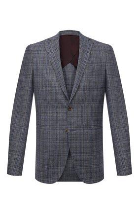 Мужской пиджак из шелка и шерсти LUCIANO BARBERA синего цвета, арт. 111F25PEL1/17012 | Фото 1
