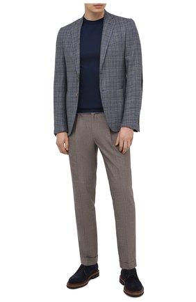 Мужской пиджак из шелка и шерсти LUCIANO BARBERA синего цвета, арт. 111F25PEL1/17012 | Фото 2