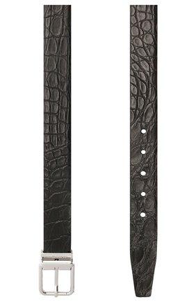 Мужской ремень из кожи каймана DOLCE & GABBANA черного цвета, арт. BC4216/A2528/CYAC | Фото 2