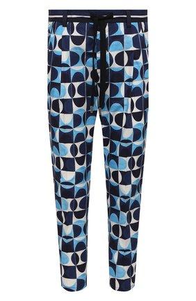 Мужские хлопковые брюки DOLCE & GABBANA синего цвета, арт. GYT0AZ/HP54S | Фото 1