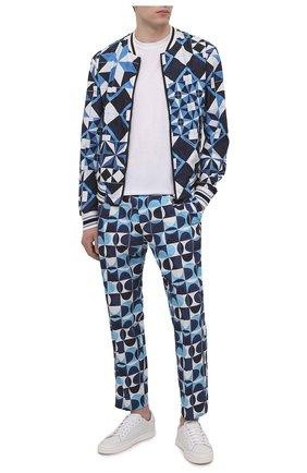 Мужские хлопковые брюки DOLCE & GABBANA синего цвета, арт. GYT0AZ/HP54S | Фото 2