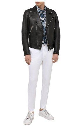 Мужские хлопковые брюки DOLCE & GABBANA белого цвета, арт. GY6IEZ/FUFJR | Фото 2