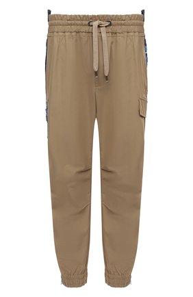 Мужские хлопковые джоггеры DOLCE & GABBANA бежевого цвета, арт. GWKGHT/GEQ73 | Фото 1 (Длина (брюки, джинсы): Стандартные; Материал внешний: Хлопок; Силуэт М (брюки): Джоггеры; Стили: Гранж)