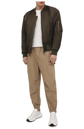Мужские хлопковые джоггеры DOLCE & GABBANA бежевого цвета, арт. GWKGHT/GEQ73 | Фото 2 (Длина (брюки, джинсы): Стандартные; Материал внешний: Хлопок; Силуэт М (брюки): Джоггеры; Стили: Гранж)