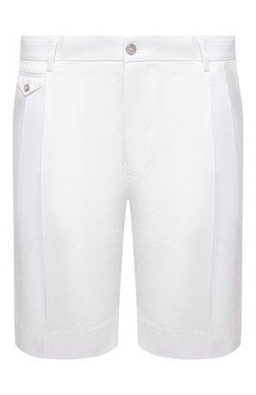 Мужские хлопковые шорты DOLCE & GABBANA белого цвета, арт. GW0MAZ/FUFJR | Фото 1
