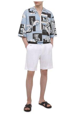 Мужские хлопковые шорты DOLCE & GABBANA белого цвета, арт. GW0MAZ/FUFJR | Фото 2