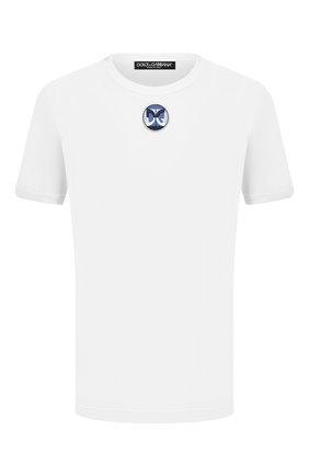 Мужская хлопковая футболка DOLCE & GABBANA белого цвета, арт. G8JX7Z/G7WIG | Фото 1