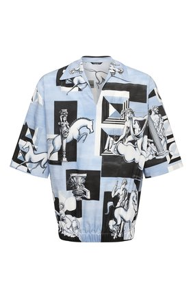 Мужская хлопковая рубашка DOLCE & GABBANA голубого цвета, арт. G5IR4T/HP543 | Фото 1