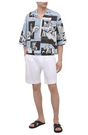Мужская хлопковая рубашка DOLCE & GABBANA голубого цвета, арт. G5IR4T/HP543 | Фото 2