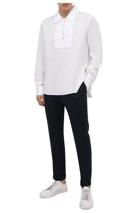 Мужская льняная рубашка DOLCE & GABBANA белого цвета, арт. G5HD4T/FU4IK | Фото 2