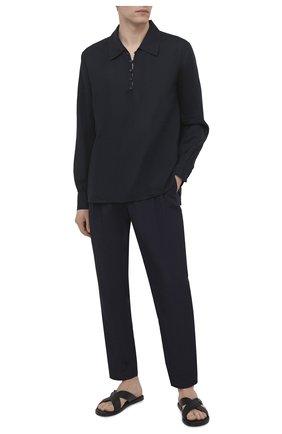 Мужская льняная рубашка DOLCE & GABBANA темно-синего цвета, арт. G5HD4T/FU4IK | Фото 2