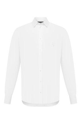 Мужская льняная рубашка DOLCE & GABBANA белого цвета, арт. G5EJ1Z/FU4IK | Фото 1