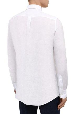 Мужская льняная рубашка DOLCE & GABBANA белого цвета, арт. G5EJ1Z/FU4IK | Фото 4