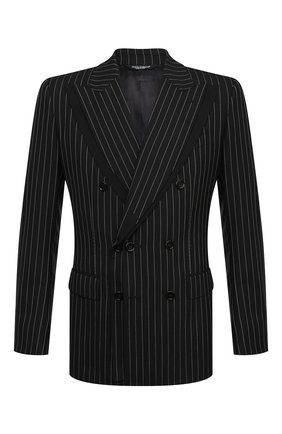 Мужской шерстяной пиджак DOLCE & GABBANA темно-серого цвета, арт. G2PK3T/FR2YE | Фото 1