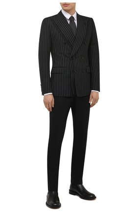 Мужской шерстяной пиджак DOLCE & GABBANA темно-серого цвета, арт. G2PK3T/FR2YE | Фото 2
