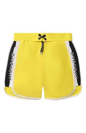 Детские плавки-шорты GIVENCHY желтого цвета, арт. H20044 | Фото 1