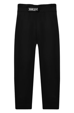 Детские брюки KARL LAGERFELD KIDS черного цвета, арт. Z14156   Фото 1