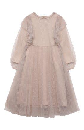 Детское платье daria ZHANNA & ANNA бежевого цвета, арт. ZAG021903Beige1 | Фото 1