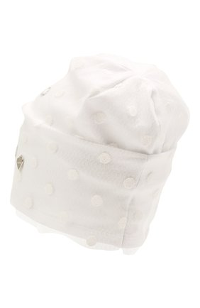 Детского хлопковая шапка IL TRENINO белого цвета, арт. 21 5241 | Фото 2