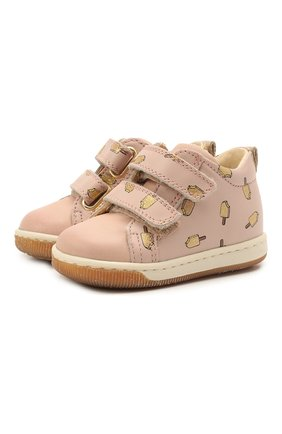 Детские кожаные кеды FALCOTTO розового цвета, арт. 0012012869/21 | Фото 1