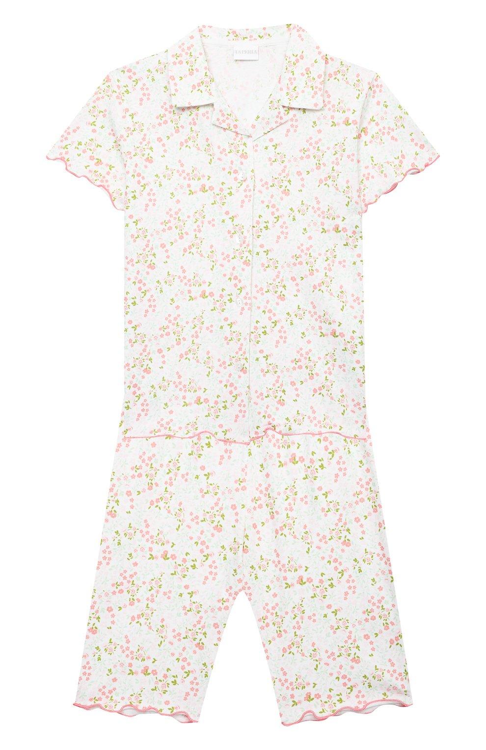 Детская хлопковая пижама LA PERLA разноцветного цвета, арт. 70001/8A-14A | Фото 1