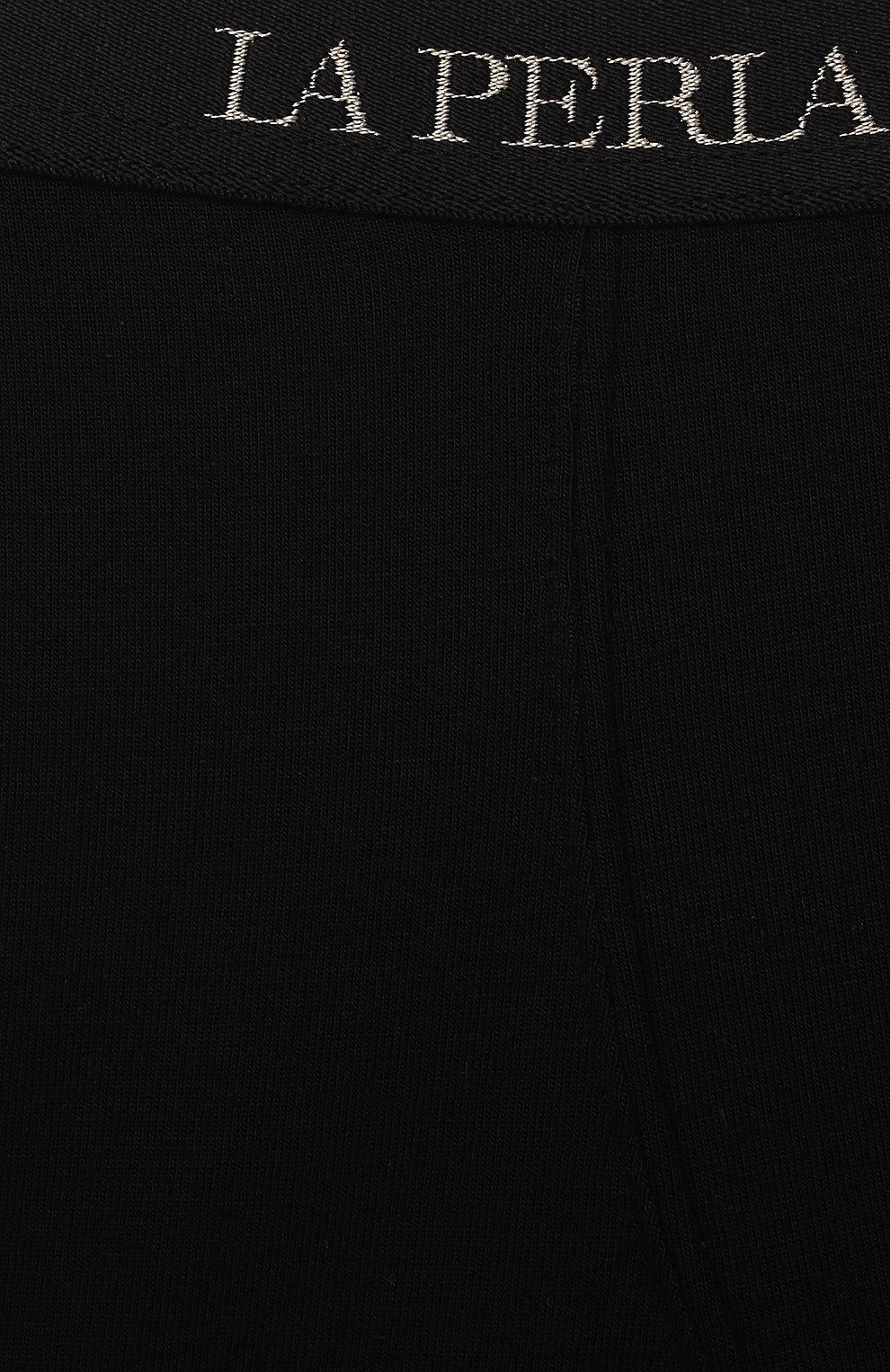 Детские трусы-боксеры LA PERLA черного цвета, арт. 70168/2A-6A   Фото 3