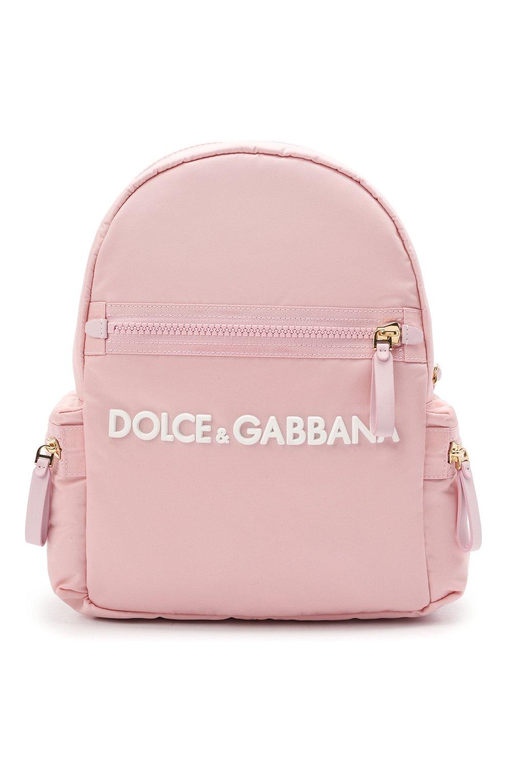 Детская рюкзак DOLCE & GABBANA светло-розового цвета, арт. EB0220/A9416 | Фото 1
