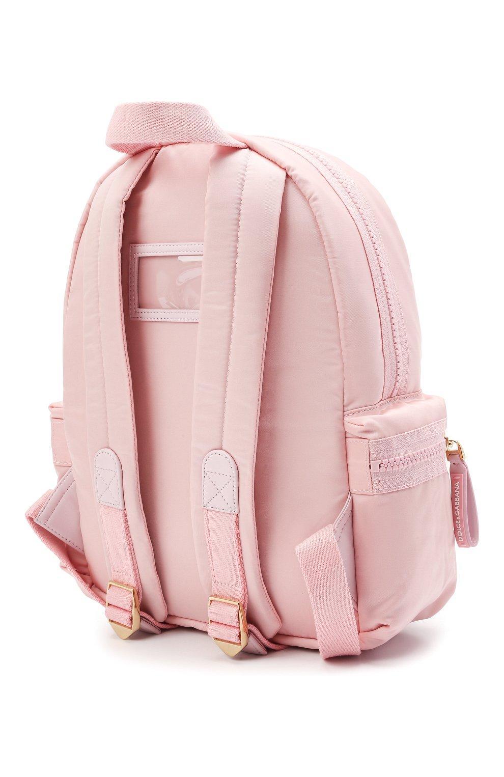 Детская рюкзак DOLCE & GABBANA светло-розового цвета, арт. EB0220/A9416 | Фото 2