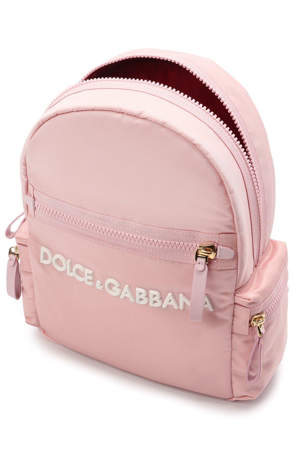 Детская рюкзак DOLCE & GABBANA светло-розового цвета, арт. EB0220/A9416 | Фото 3