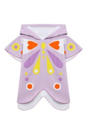 Детского хлопковое пончо-полотенце STELLA MCCARTNEY сиреневого цвета, арт. 602815/SQK75 | Фото 1