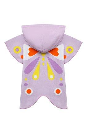 Детского хлопковое пончо-полотенце STELLA MCCARTNEY сиреневого цвета, арт. 602815/SQK75 | Фото 2