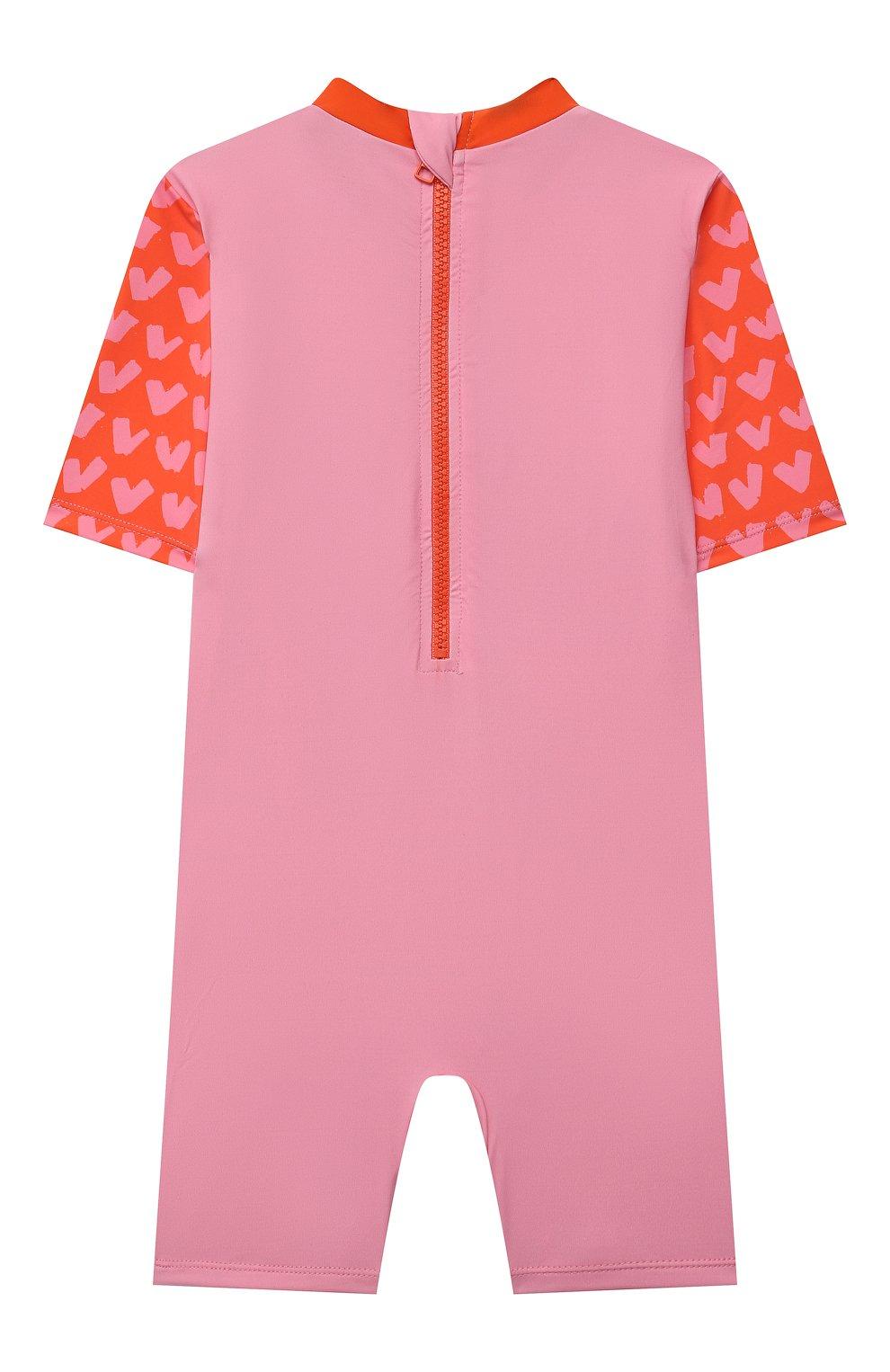 Детского пляжный комбинезон STELLA MCCARTNEY розового цвета, арт. 602570/SQK59   Фото 2
