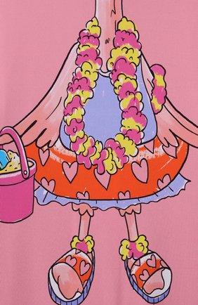 Детского пляжный комбинезон STELLA MCCARTNEY розового цвета, арт. 602570/SQK59   Фото 3
