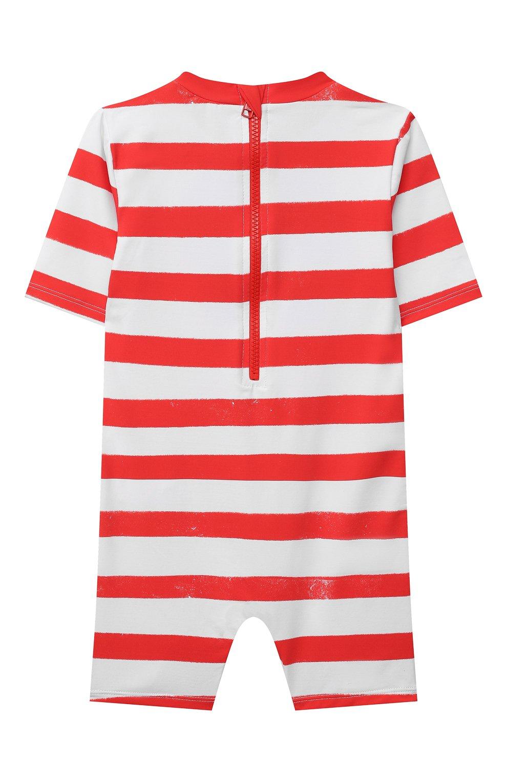 Детского пляжный комбинезон STELLA MCCARTNEY красного цвета, арт. 602357/SQK39 | Фото 2