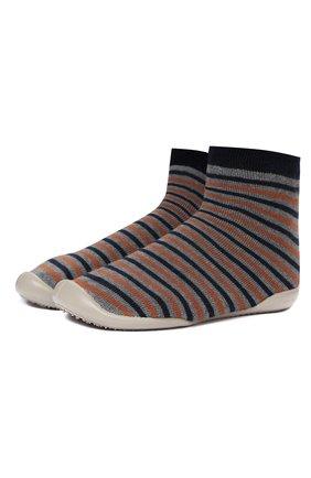 Детского тапочки-носки COLLEGIEN разноцветного цвета, арт. 110B/36-39 | Фото 1 (Материал внешний: Текстиль; Материал внутренний: Текстиль)