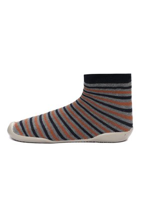 Детского тапочки-носки COLLEGIEN разноцветного цвета, арт. 110B/36-39 | Фото 2 (Материал внешний: Текстиль; Материал внутренний: Текстиль)