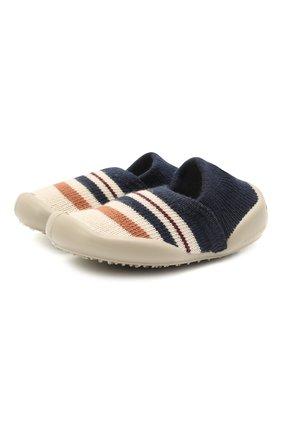 Детского домашние туфли COLLEGIEN синего цвета, арт. 112F/18-35 | Фото 1 (Материал внешний: Текстиль; Материал внутренний: Текстиль; Кросс-КТ: слиперы)